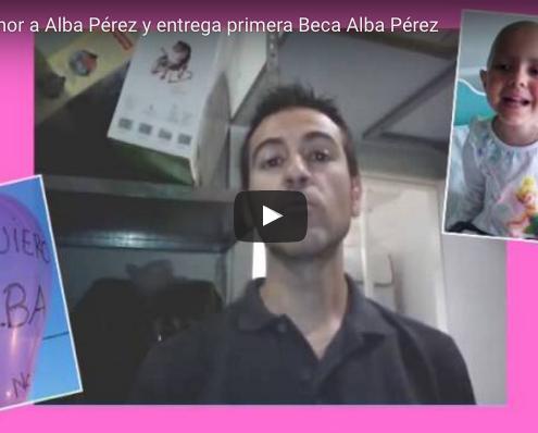 CENA EN HONOR A ALBA PÉREZ Y ENTREGA PRIMERA BECA ALBA PÉREZ