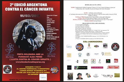 2 ª edición Argentona contra el cáncer de la infantil, 11-03-2016