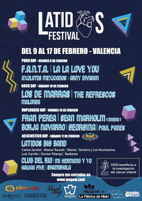 5 ¡¡edición de Latidos Festival a Valencia a favor de la Fundación!! seguimos luchando contra el cáncer infantil con la ayuda de grandes personas solidarias