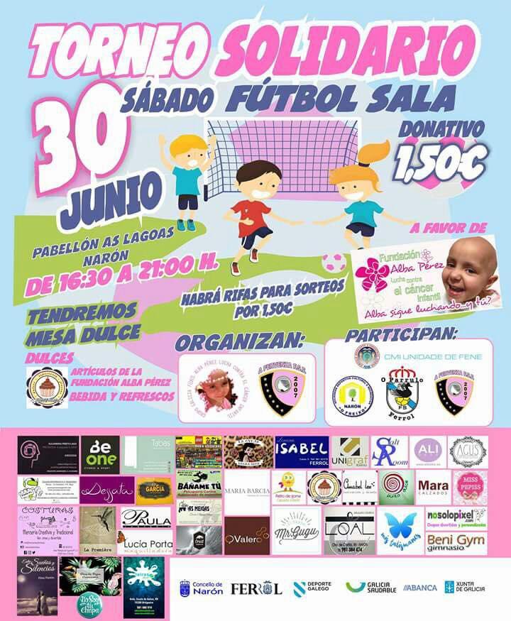 Naron (Galicia) se vuelca en la lucha contra el cáncer Infantil. con un torneo infantil