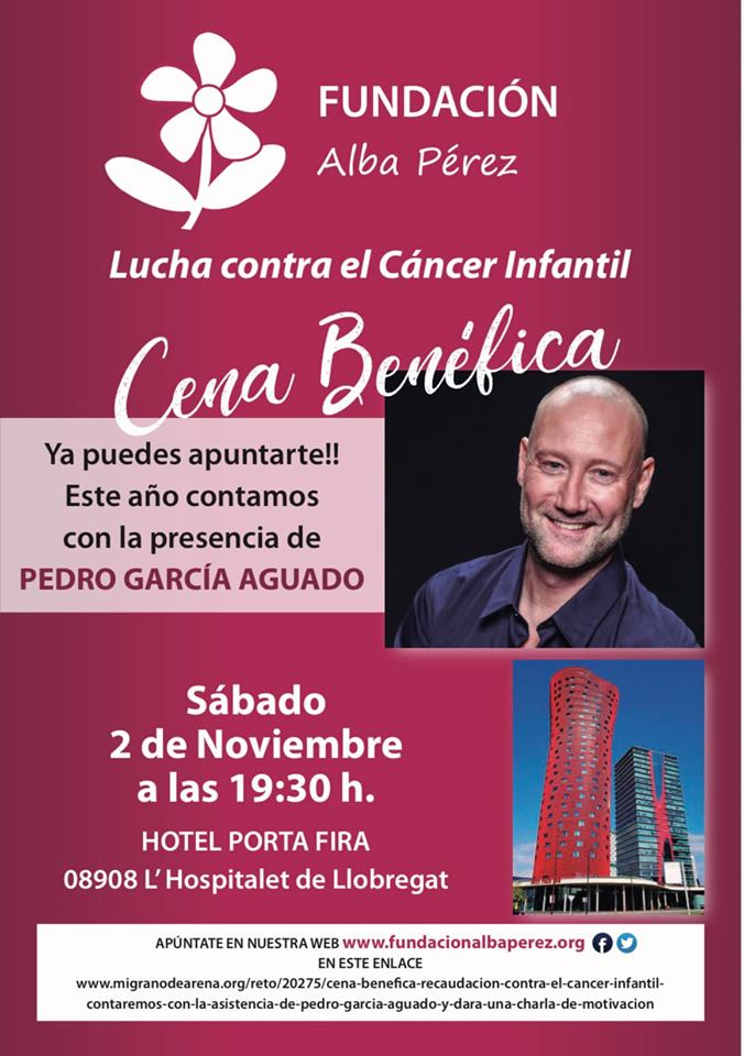 CENA ANUAL DE LA FUNDACIÓN ALBA PÉREZ 2 DE NOVIEMBRE 2019 APÚNTATE ¡YA!